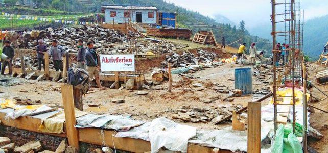 Der Neubau der Schule nimmt Gestalt an