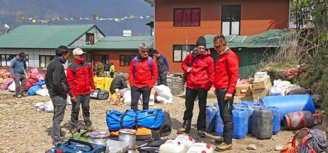 Wegsicherung auf dem Everest Trekking