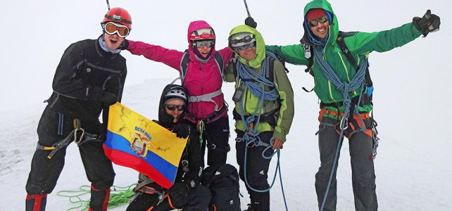 Auf dem Mont Blanc mit den Ecuadorianischen Guides