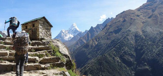 Fussverkehr im Land der Sherpas
